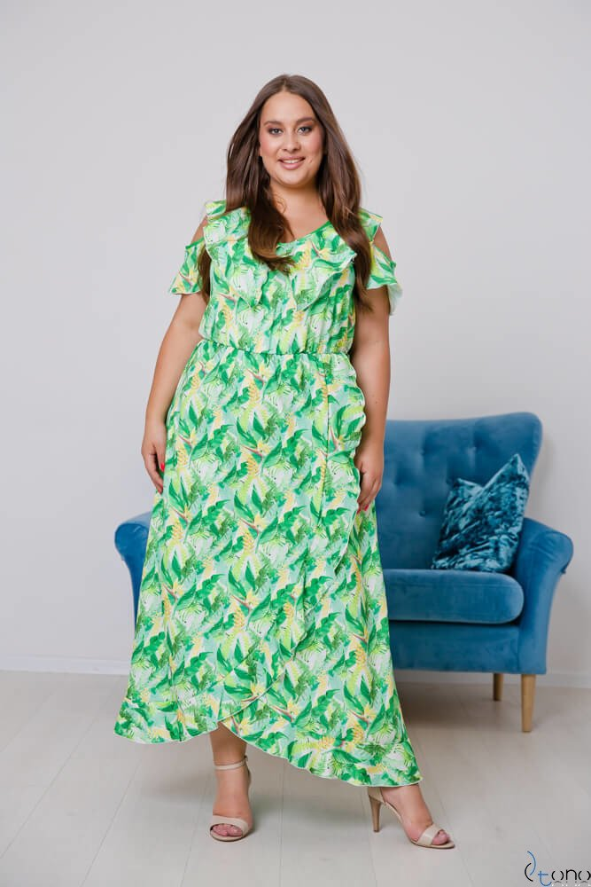 Green Dress GRESTIO Plus Size