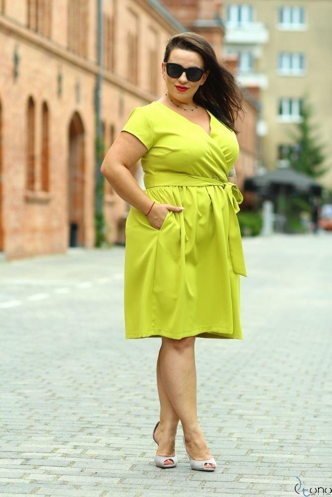 Limone Dress MACARIS Plus Size