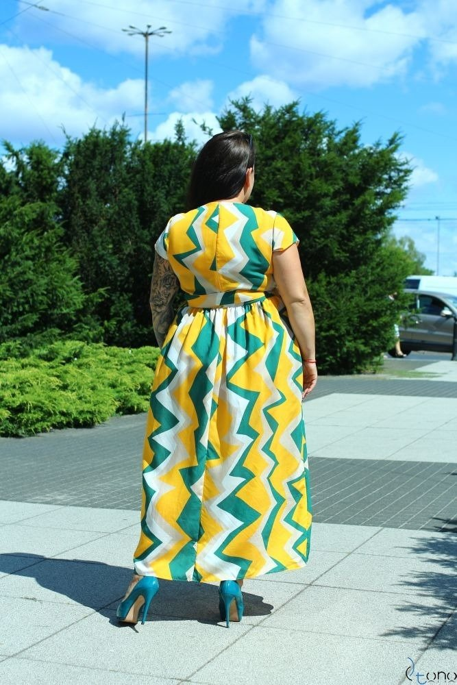 Dress ARGINA Plus Size Maxi Design 2