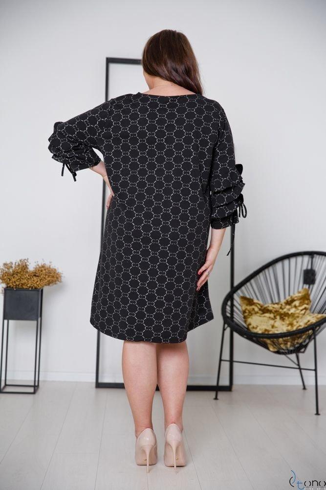 Black-Silver Dress CROEN Plus Size