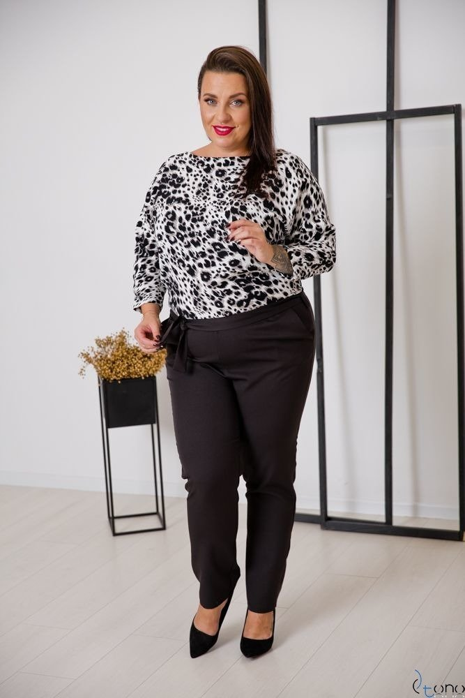 Black-White Dungaree RIPASO Plus Size
