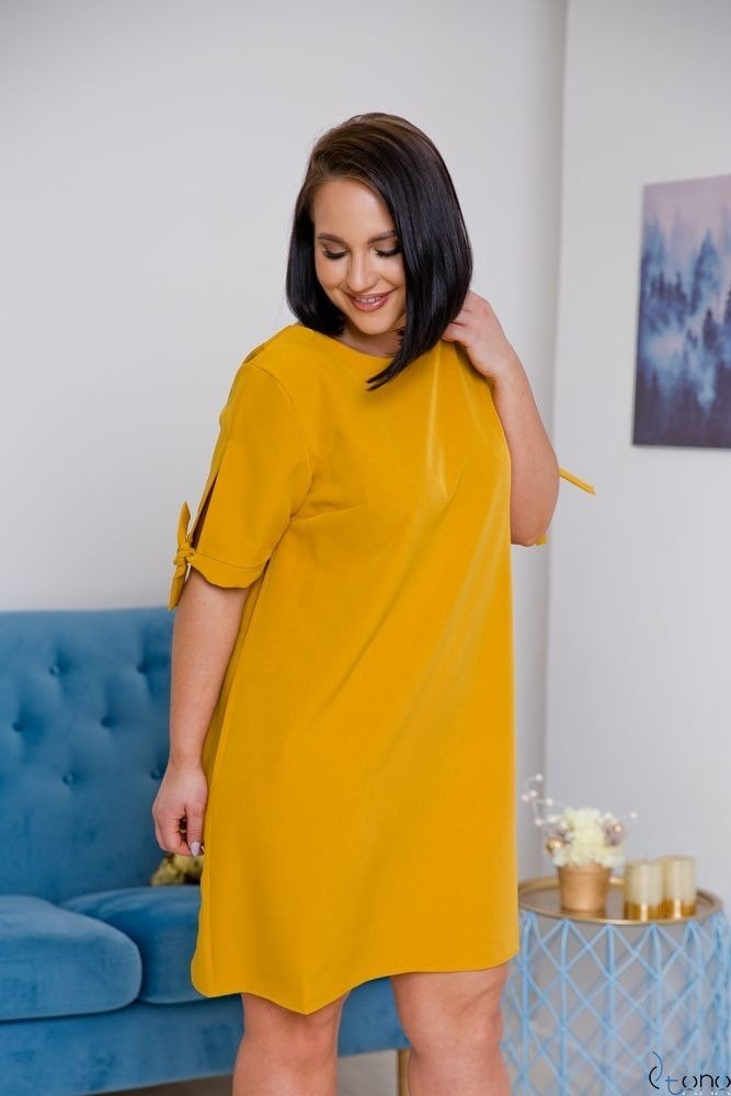 Mustard Dress SAFANA Plus Size