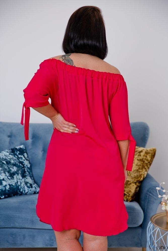 Red Dress ESMARA Plus Size Embroidered
