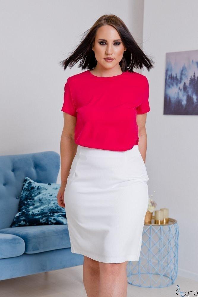 White Skirt DEBBY Plus Size