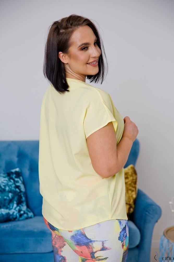 Yellow Blouse COVER Plus Size