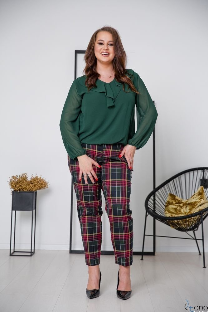 Black Trousers SHILOW Plus Size Design 4