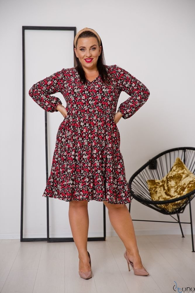 Dress TIFANY Plus Size Floral Design 1