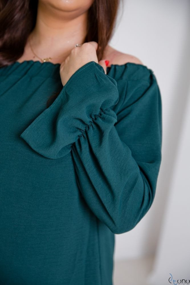 Green Blouse SEVIJA Plus Size