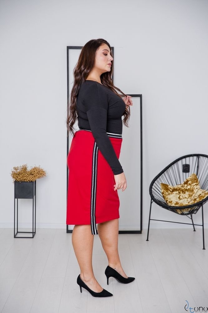 Red Skirt LAURA Plus Size