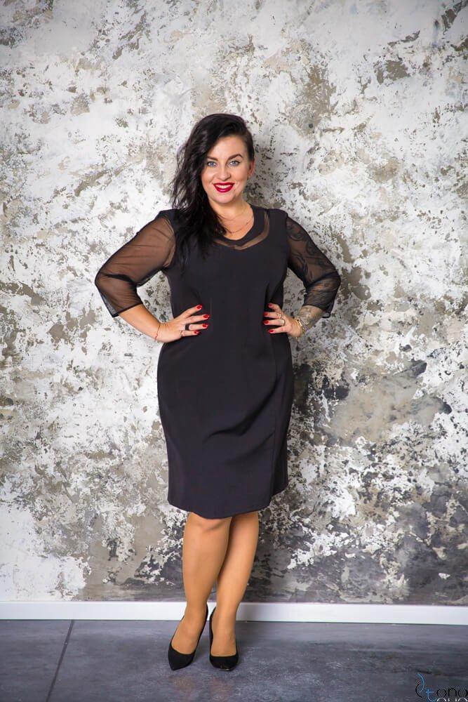 ed270d833dac7e Czarna Sukienka AUGURA Plus Size ✅ darmowy odbiór w punckie i zwrot ...