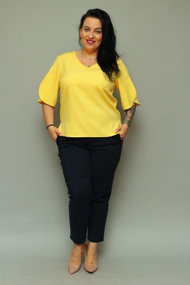 27d538f2367f22 Bluzka LUSSY Plus Size Żółta ✅ darmowy odbiór w punckie i zwrot ...