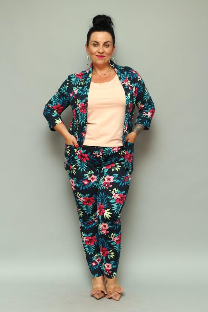 b05bdcf54cefa Garnitur damski VEDRE Casual Plus Size Marynarka + Spodnie ...