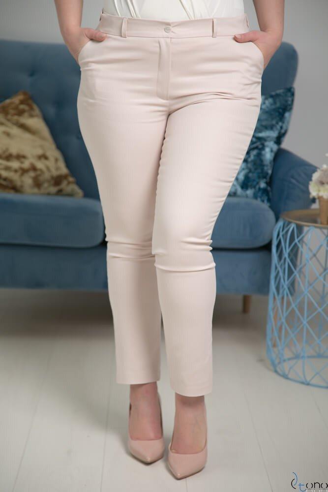 f6d7afc0ee4364 Jasnobeżowe Spodnie RESPER eleganckie Plus Size Kliknij, aby powiększyć ...