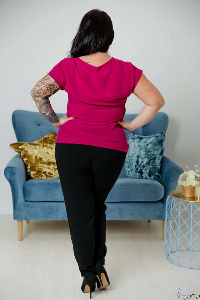 Amarantowa Bluzka CEZARA Plus Size