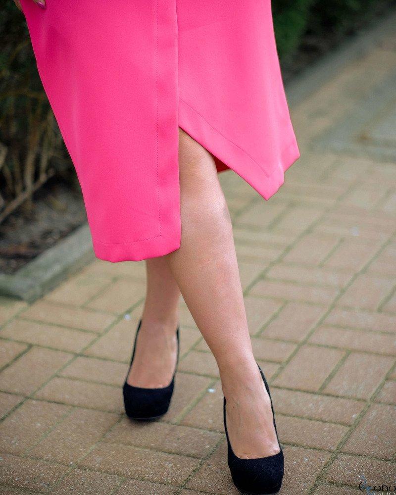 Amarantowa Sukienka FERRITA Plus Size