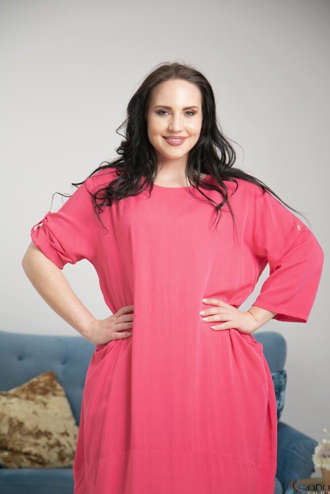 Amarantowa Sukienka SIMILLA Plus Size