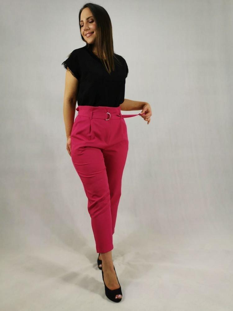 Amarantowe Spodnie Eleganckie MIRANO Plus Size