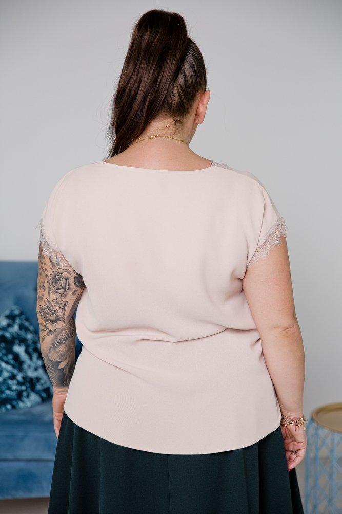 Beżowa Bluzka LENA Plus Size