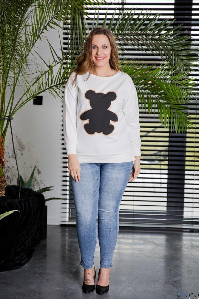 Biała Bluza ORSETO Plus Size