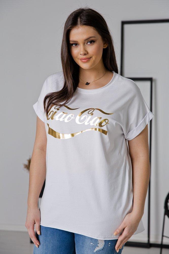 Biała Bluzka CIAO Plus Size