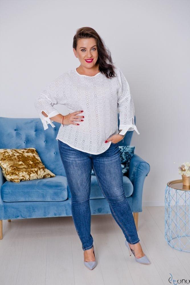 Biała Bluzka ENYA Plus Size