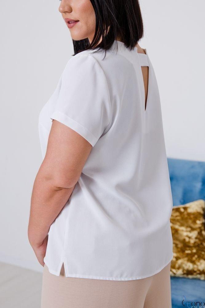 Biała Bluzka LEXY Plus Size