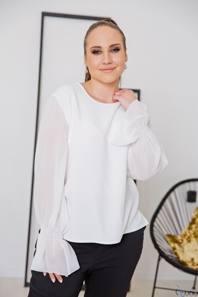 Biała Bluzka PARELA Plus Size
