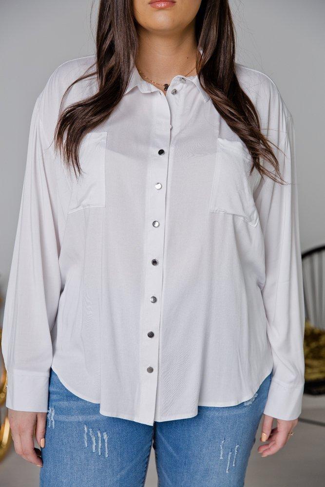 Biała Koszula BIANCO Plus Size