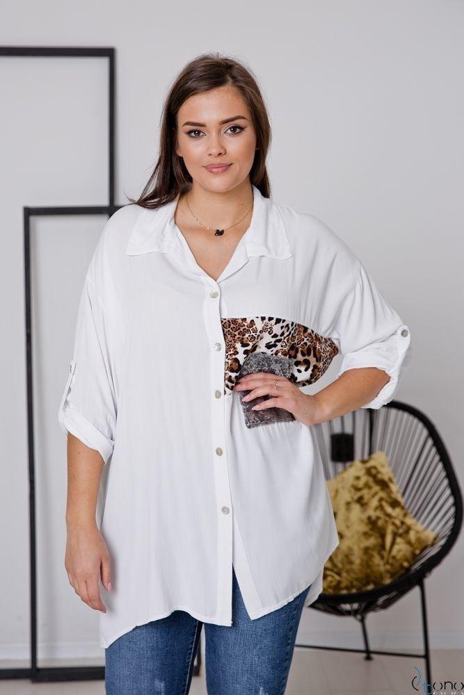 Biała Koszula LUCE Plus Size