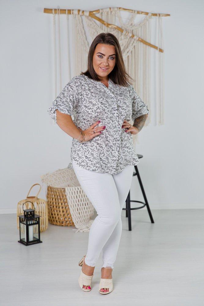 Biała Koszula TRENA Plus Size Wzór 2