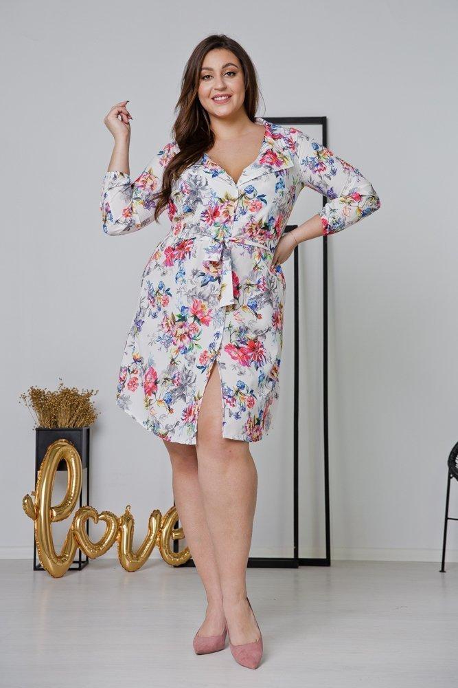 Biała Sukienka DOLAN Plus Size