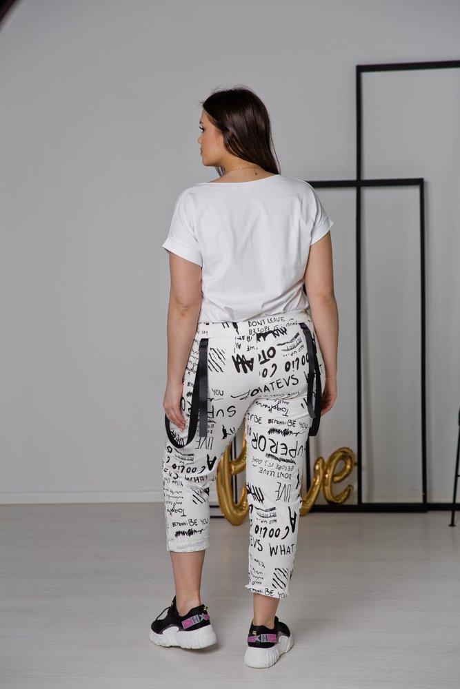 Białe Spodnie ADINA Plus Size