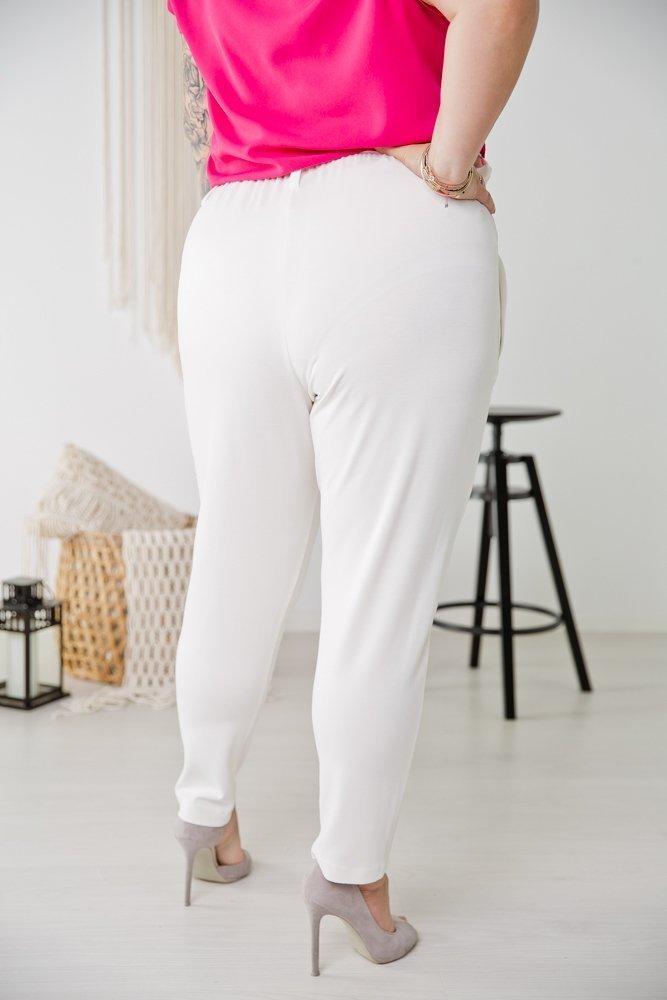 Białe Spodnie GANTOS Plus Size