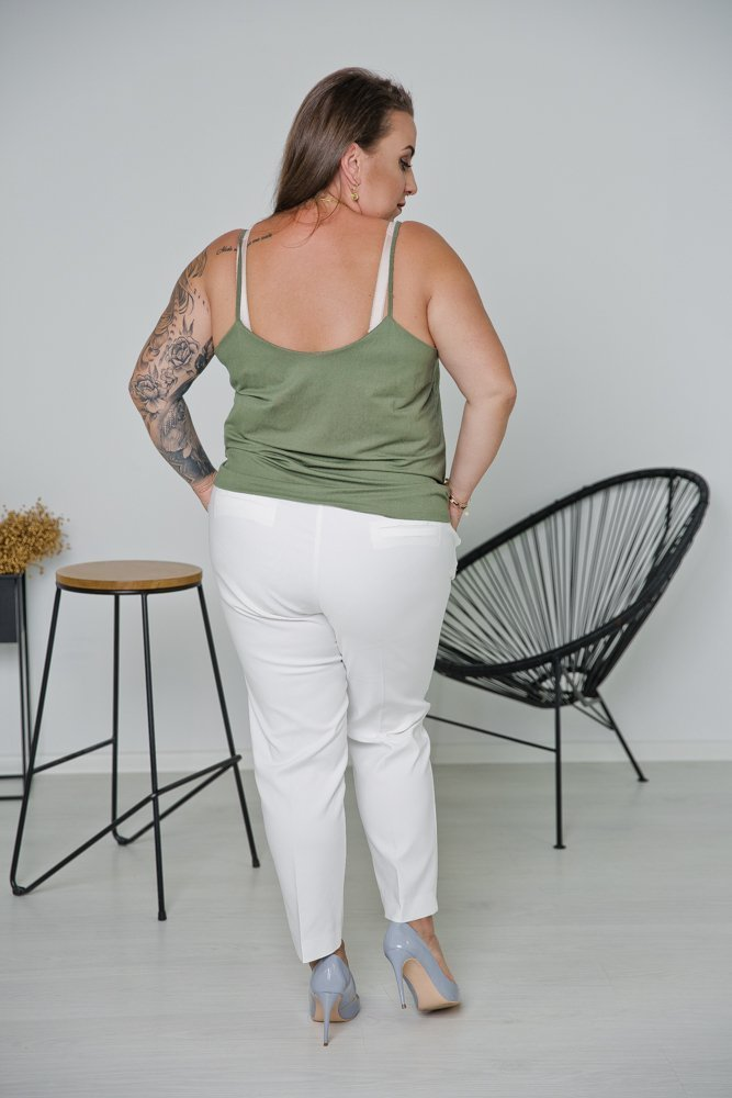Białe Spodnie SHILOW Plus Size