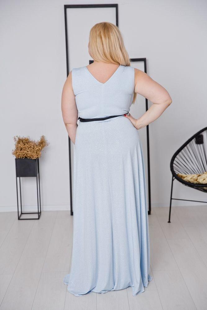 Błękitna Sukienka VOYAGE Plus Size