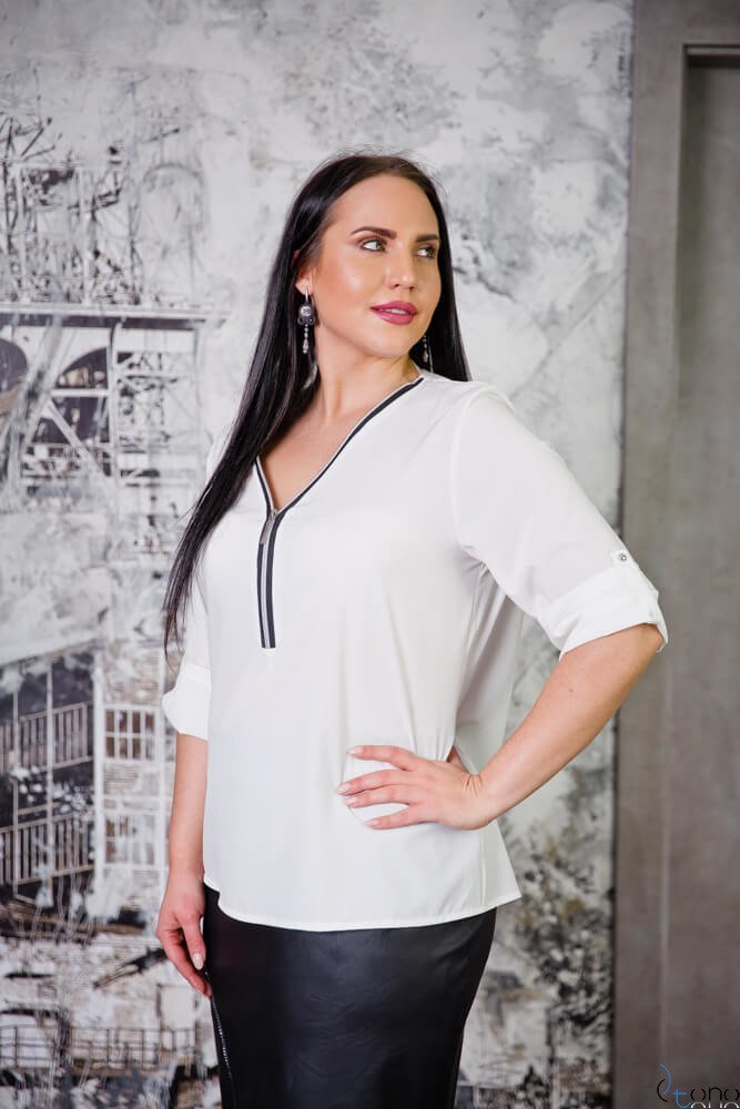Bluzka SERRENA Ecru Plus Size