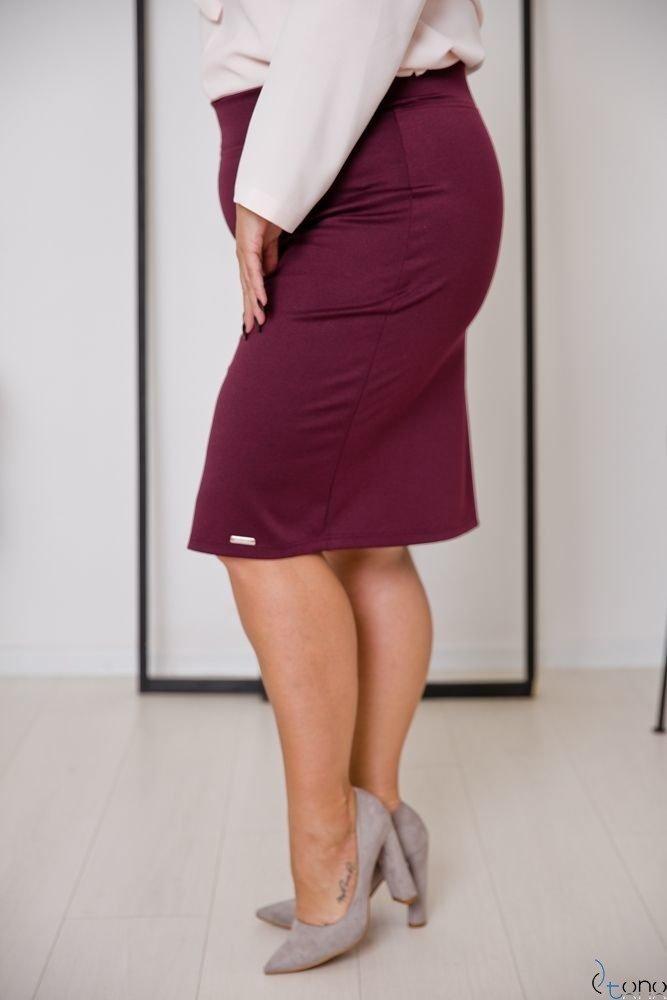 Bordowa Spódnica PILAR Plus Size