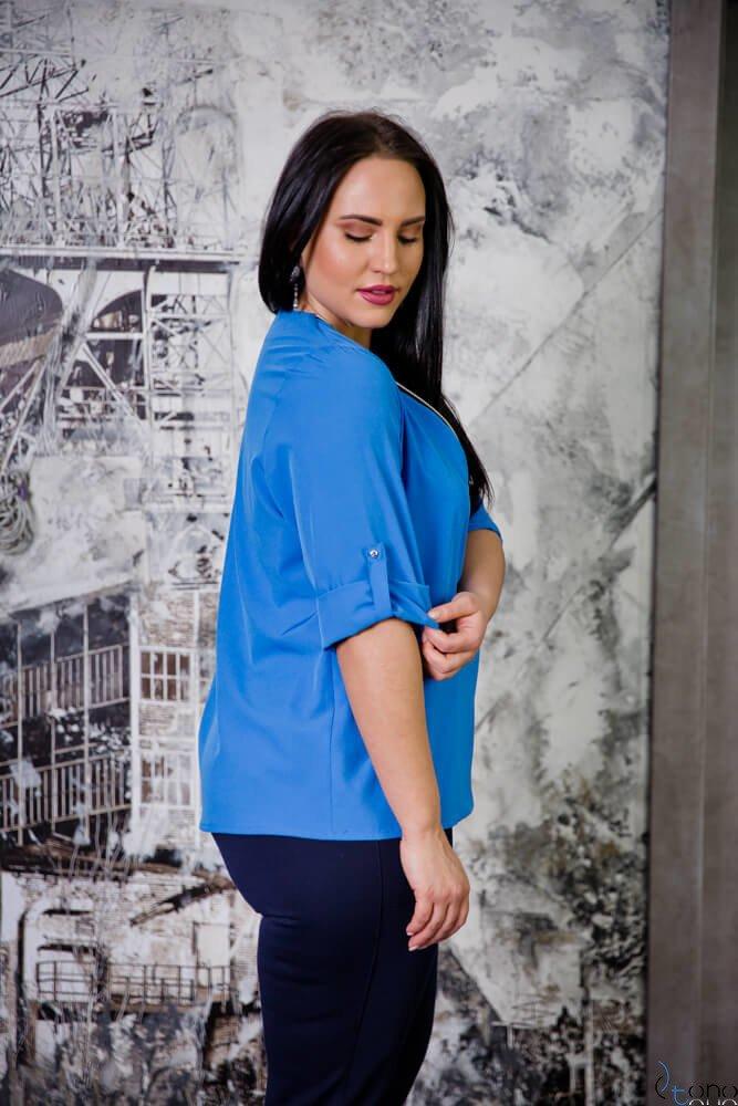 Chabrowa Bluzka SERRENA Plus Size