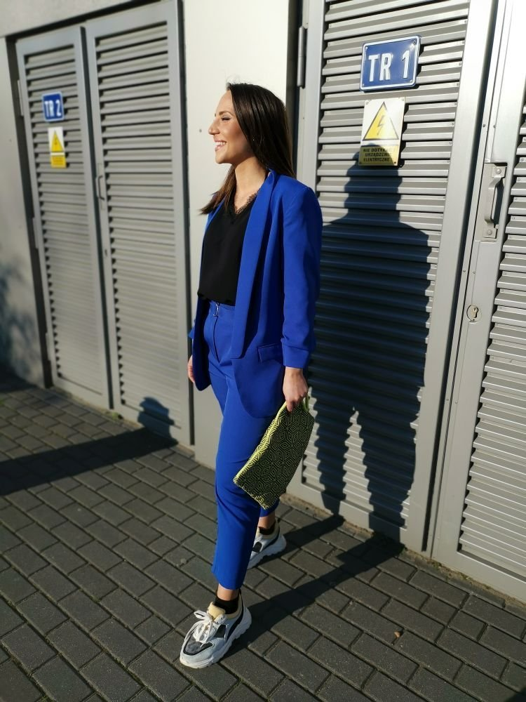 Chabrowe Spodnie Eleganckie MIRANO Plus Size