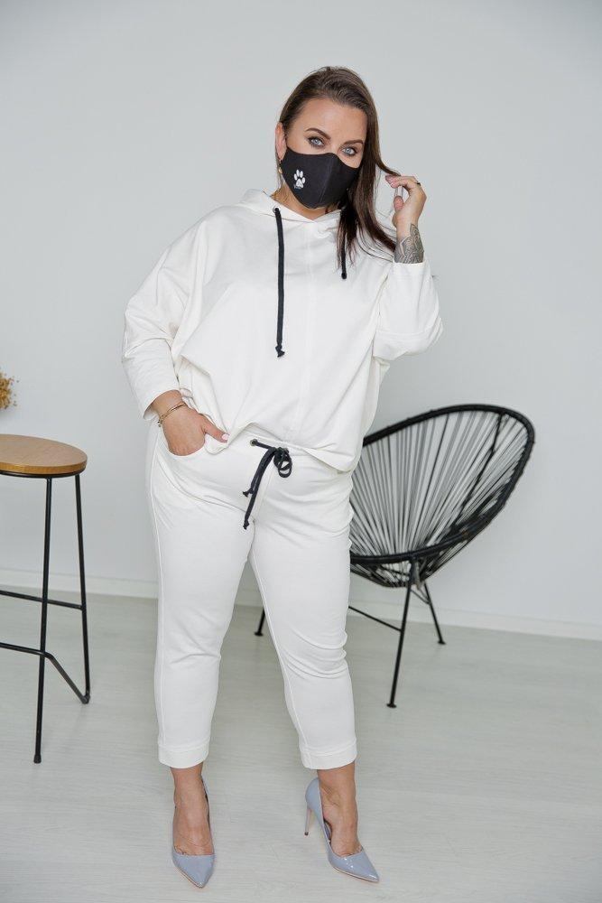 Czarna Bawełniana Maseczka Maska Wielorazowa Wzór 17