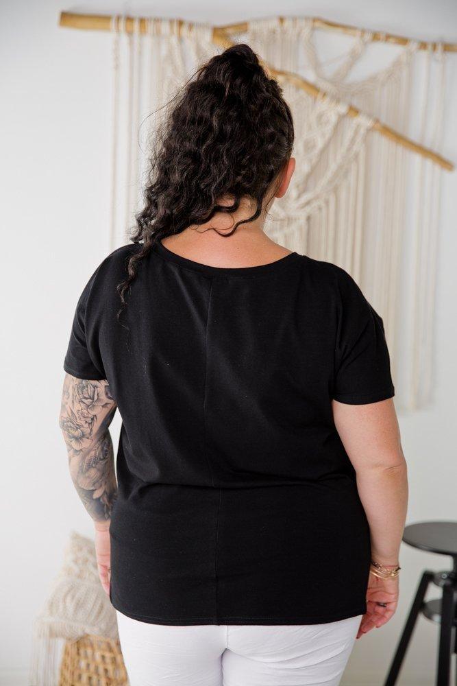 Czarna Bluzka BREATHE  Plus Size