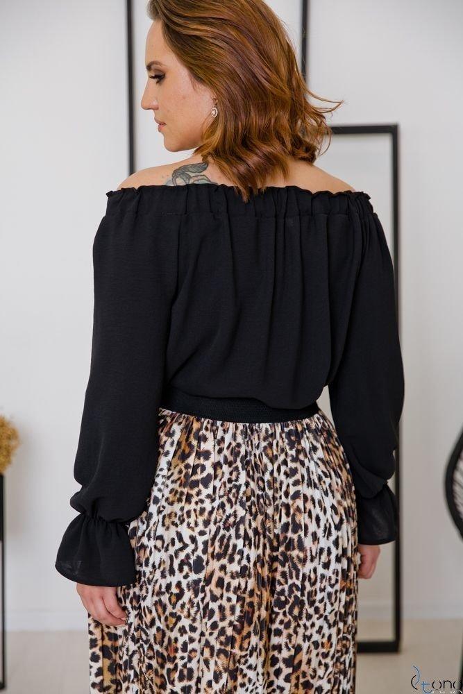Czarna Bluzka SEVIJA Plus Size