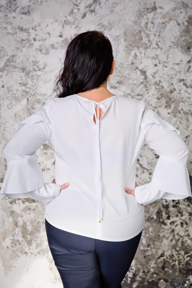 Biała Bluzka SHILA Plus Size