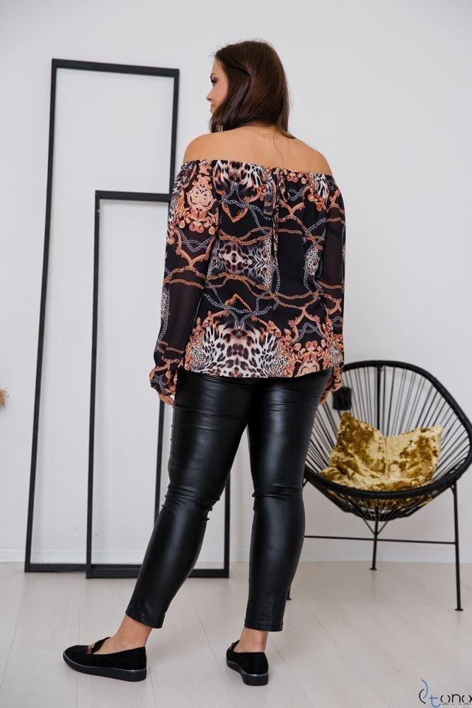 Czarna Bluzka SORTURA Plus Size Hiszpanka