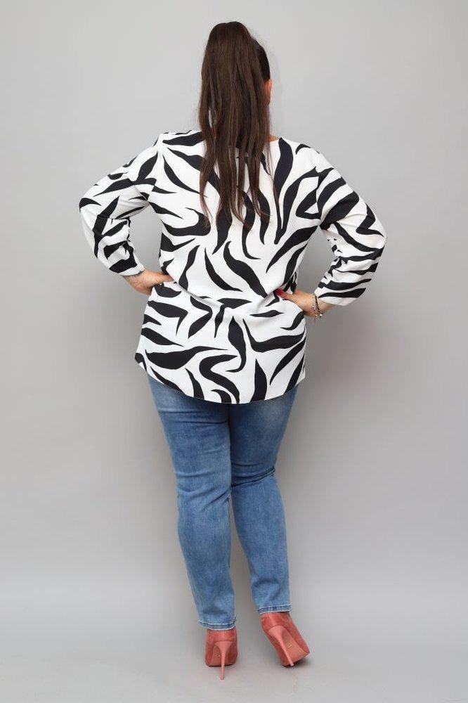 Czarna Bluzka ZABREA Plus Size
