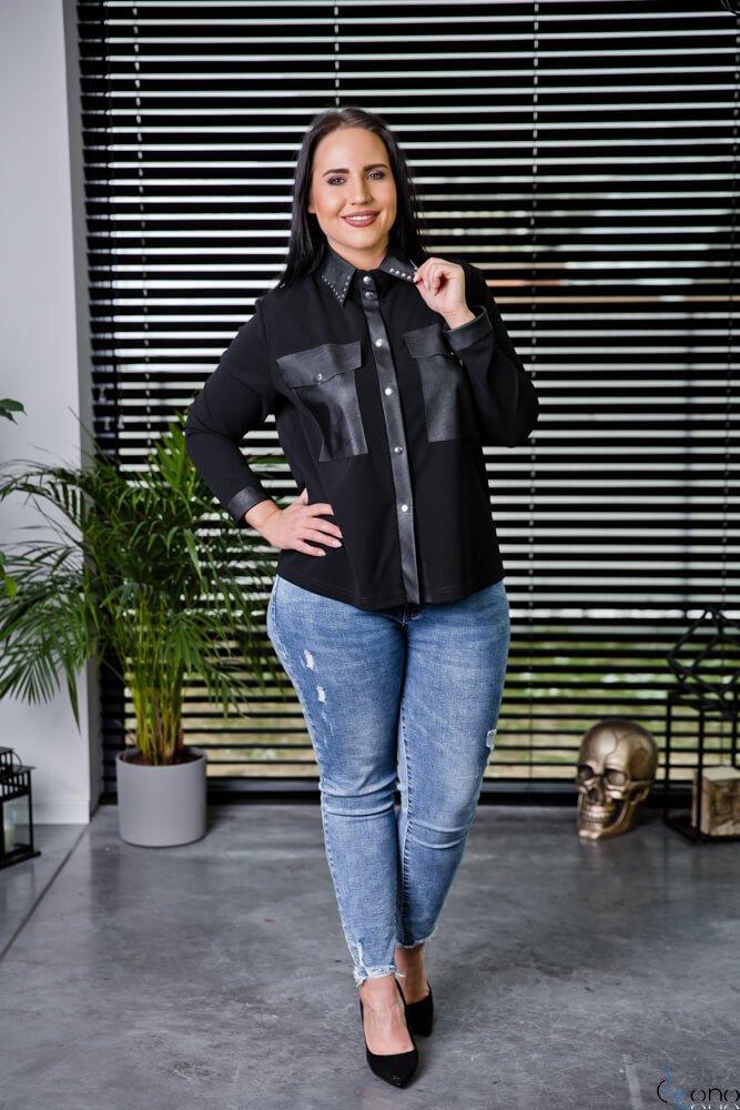 Czarna Koszula BRIEF Plus Size