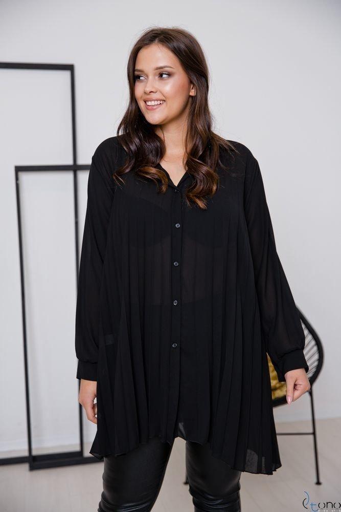 Czarna Koszula PASSADIA Plus Size