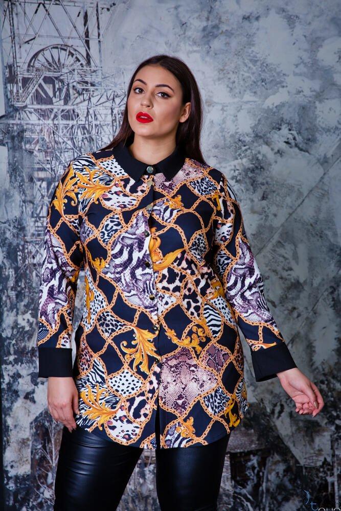 Czarna  Koszula TRINY Plus Size