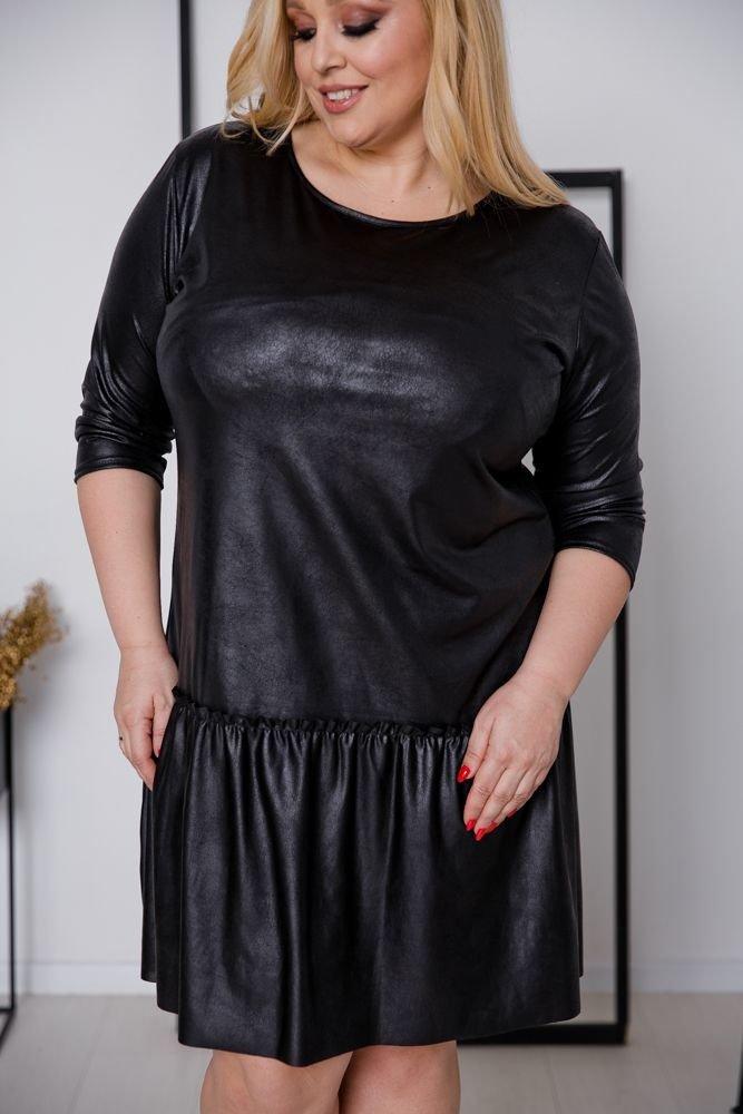 Czarna Sukienka DENVEY Plus Size