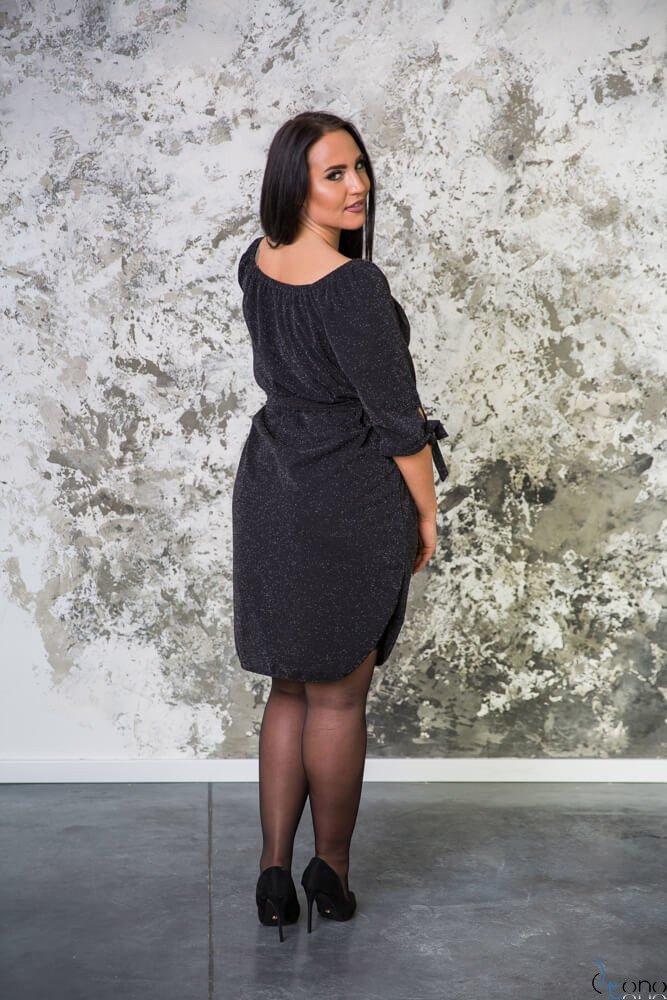 Czarna Sukienka FUOCO Plus Size